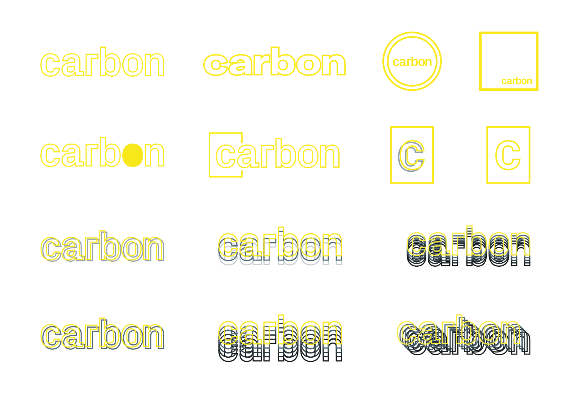 Branding iterations for Carbon